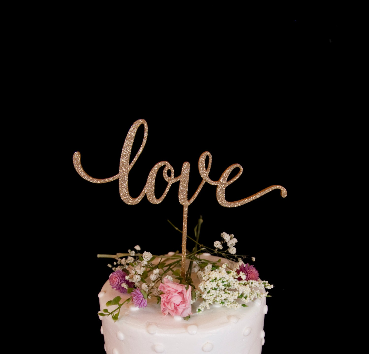 glitter wedding cake topper wedding cake topper glitter gold by haymadeshop on etsy 14723