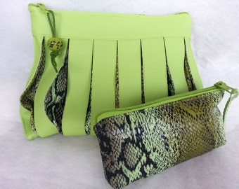 Set of 2 cosmetic bags, utility pouch *** VIPER ***