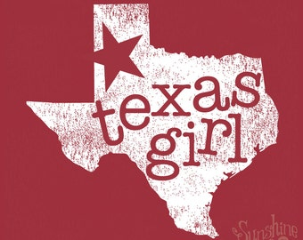 Texas Girl ~ (L) Independence Red T-Shirt 4.5 oz
