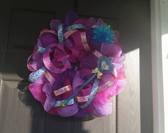Children's Mesh Name Initial Wreath