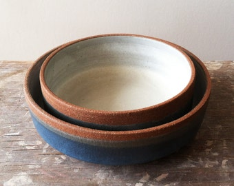 Layered Blue Bowl- Medium