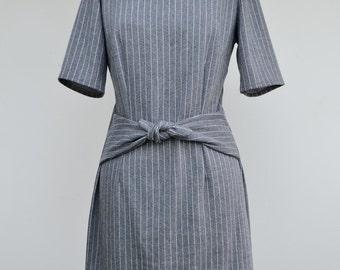 Dark grey ribbon dress