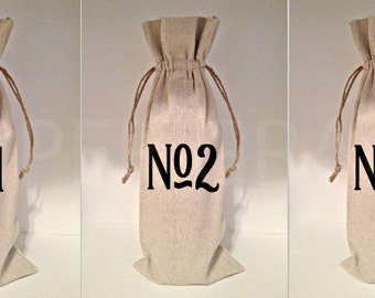 Wine Bag, Wine Tasting Party, Wine Bottle Holder, Wine Party Decorations