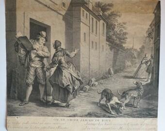 Old illustration Jean de La Fontaine