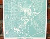 UGA Map Art Print- Athens GA Map Print (More Colors Available!)