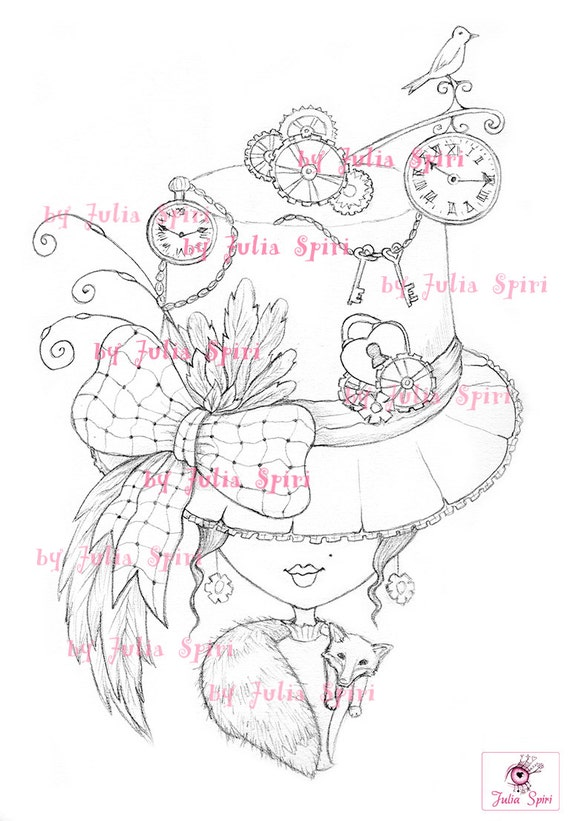 vintage coloring pages etsy - photo#16