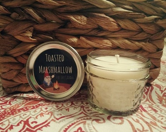 Toasted Marshmallow Mason Jar Soy Candle- 4oz