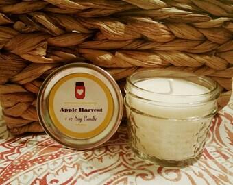 Apple Harvest Mason Jar Soy Candle- 4oz