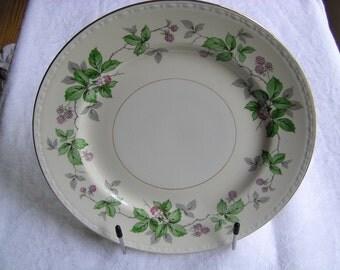 Homer Laughlin Greenbriar Dinner Plate 1951