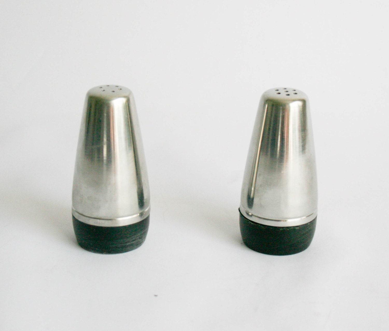 Vintage alfra alessi salt and pepper shaker stainless steel for Alessi salt and pepper shakers