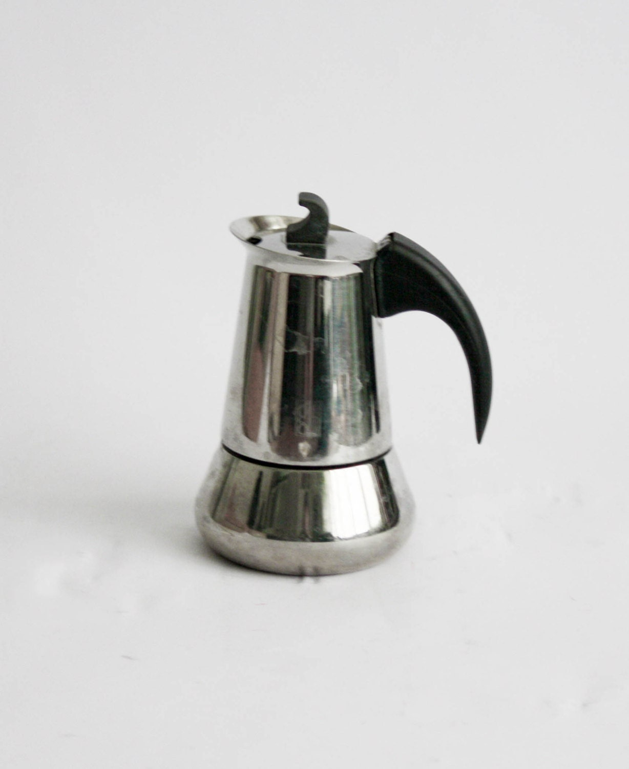 Vintage Italian Coffee Maker Stainelss Steel 2 Cups Made