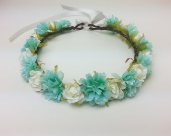 Flower crown, flower hair garland, flower hair wreath, flower girl, flower hair piece, festival crown, flower headband