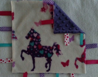 Infant Security Blanket with Ribbons