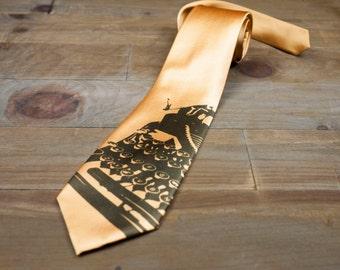Typewriter Tie   Screen printed necktie gift