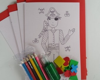 craft kits for kids - pirate