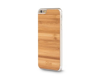 Sticker wood bamboo - back iPhone