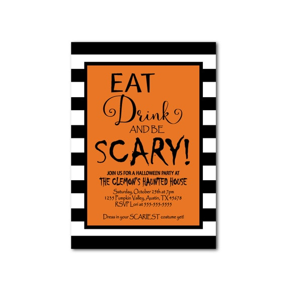 Downloadable Halloween Invites
