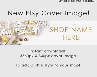 Christmas Etsy  Cover Photo / Cover Image / Shop Cover / Christmas Banner / Holiday Banner / Holiday Cover Photo / Shop Graphics / Style-124