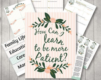 October {Come Follow Me} How Can I Learn to Be More Patient? Teaching Package