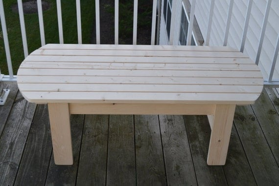 Pine Adirondack Coffee Table Patio Table By Inkedwoodworking