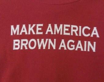 Kids Make America Brown Again Screen Print Hoodie Sizes S-5XL