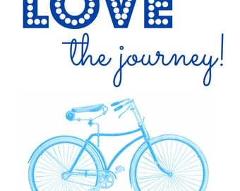 Love the Journey Blue Bike