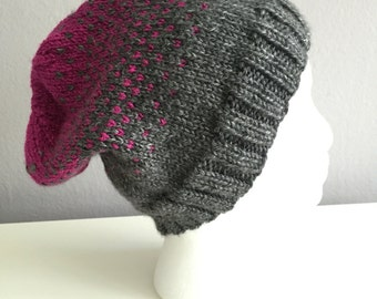 Pink and Gray Ombre Hat
