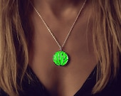 Green Glow Necklace - Glow in the Dark Necklace - Green Necklace - Circle of Nature  - Glowing Jewelry - Gifts for Her - Kids - Gifts