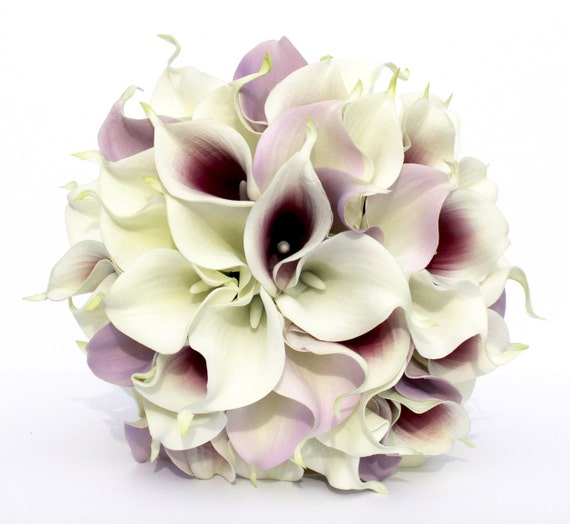 purple calla lily wedding bouquets wedding bouquet purple calla wedding bouquet real to 6885