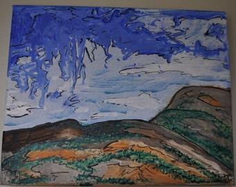 Storm Cloud Over the Hills