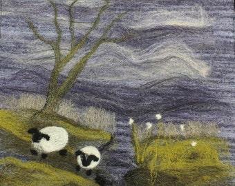 Sheep on the Moors needle-felting kit