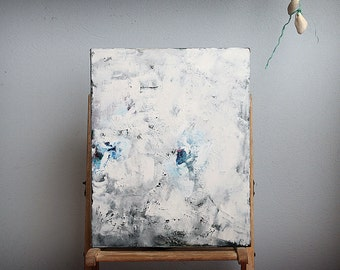 Oil Painting on Canvas, Fine Art Painting, Abstract Modern Oil Painting, Grey Blue Oil Painting,  40X50 cm. Contemporary Fine Art Painting