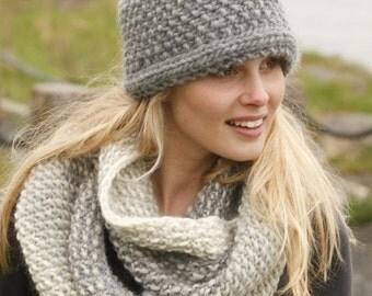 Big crochet headband - ear warmer - knit headband - gray headband - knit headwrap - girl winter headband - knit turban - knitted ear warmer