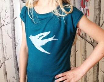 Sweet girl swallow, screen printed T-shirt/shirt