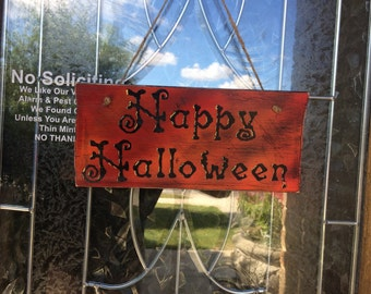 Happy Halloween Sign, FREE USA Shipping