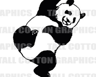 PANDA BEAR Vinyl Decal Sticker decor #WL099