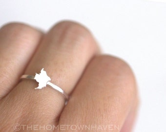 Colombia Ring - I heart Colombia ring, Colombia map ring, Stacking rings