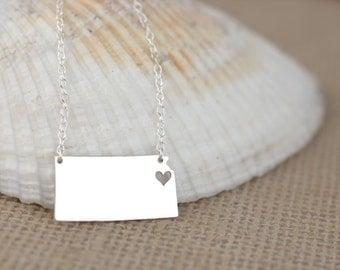 Kansas Necklace - I heart kansas