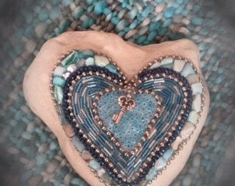 Blue heart with key (Key to your heart)
