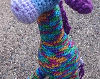Camouflage Baby Giraffe Soft Toy Crocheted Amigurumi Animal