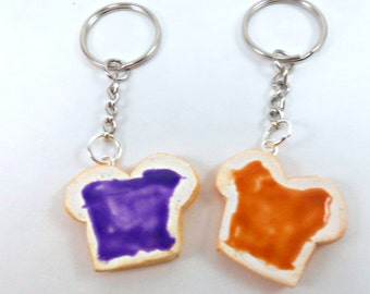 Peanut butter and Jelly Best friend keychain gift for husband boyfriend we go together like peanut butter to my jelly couples keychain pbj
