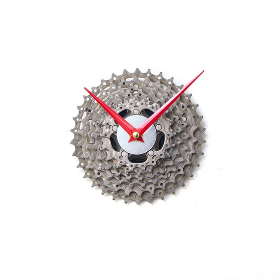 Industrial Clock, Bike Clock, Bicycle Wall Clock, Unique Wall Clock, Unique Clock, Modern Clock, Steampunk Clock, Cyclist Gift Metal Clock