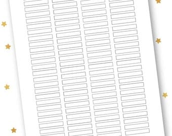 DIY PRINTABLE (TEMPLATE) Planner Stickers: Blank Headers