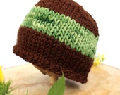 Hand Knit Wool Hat by Knit a Bit of Whimsy