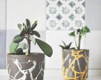 Modern Planters, SET OF 2, Ceramic Planter, Cactus Planter, Plant Pot, Ceramic Succulent Pot, boho decor, indoor planters, outdoor planters