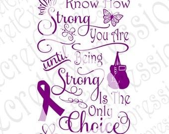 Never Know How Strong Svg, Cancer Svg Survivor Svg Cancer Survivor Svg Digital Cutting File JPEG DXF, SVG Cricut, Svg Silhouette, Print File