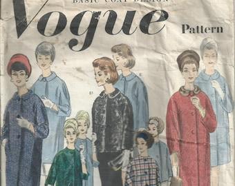 Basic Coat Design - Vogue Pattern 3008 - 1964