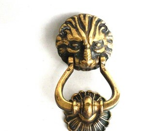 Door Knocker Lion / Antique Lion Door Knocker /Solid Brass Detailed Decorative Lion Head Door Knocker #5E8G5DCK6A