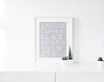 "Print ""Geometrical ABC"" A3 poster various colors"