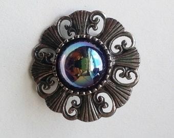 Vintage brooch, vintage pin, beaded pin, Art Deco Pin, Art Deco brooch, vintage jewellery, costume pin, boho pin, costume jewellery